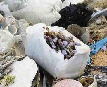 Er zou vaker medisch afval op de noordkust aanspoelen.