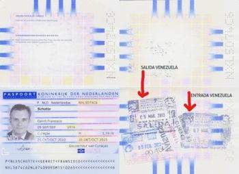 Scan van het paspoort van MFK-Statenlid Gerrit Schotte.