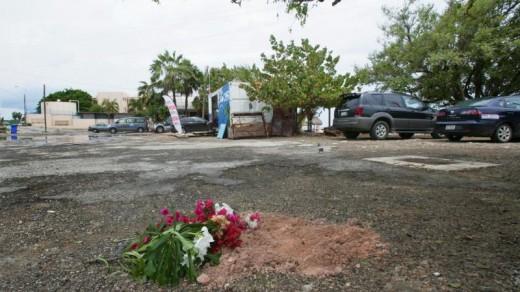 De plek waar Helmin Wiels werd vermoord ©ANP