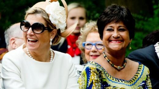 Joan Ferrier, vorig jaar in Amsterdam met koningin Máxima ©ANP .