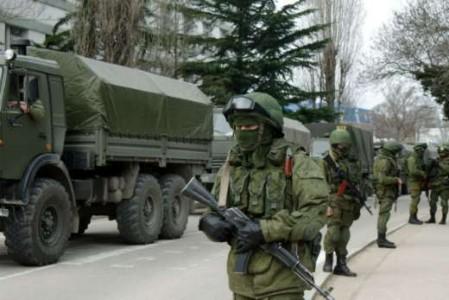 Volgens Oekraïne zou het aantal Russische soldaten op de Krim enorm zijn toegenomen - Foto    AFP