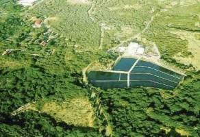 Waterzuiveringsinstallatie Klein Hofje bij Groot Piscadera.