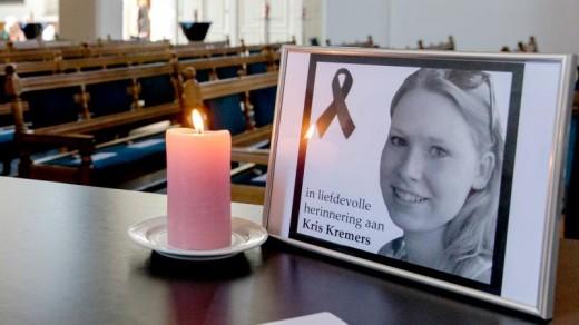 Foto van Kris Kremers in de kerk bij de herinneringsdienst op 18 juli ANP Sander Koning.