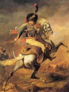 Géricault 'Officier de chasseurs à cheval a Charge