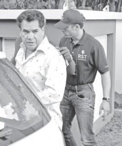 Olga Saleh-Kostrzewski, de advocate van Elvis 'Monster' Kuwas, gaf dinsdag aan dat Michael Leesly Robbie dos Santos (foto) had aangegeven als opdrachtgever voor de moord op Wiels. FOTO JASON LAU-A-KIEN
