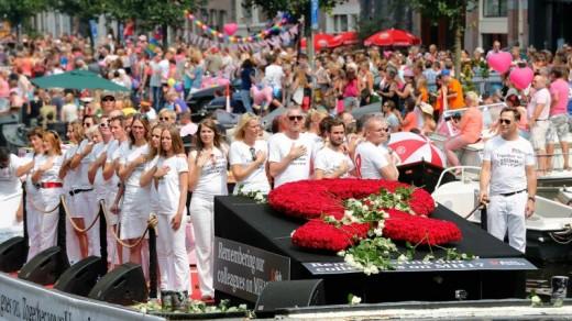 De boten van het Aids Fonds Foto    ©ANP .