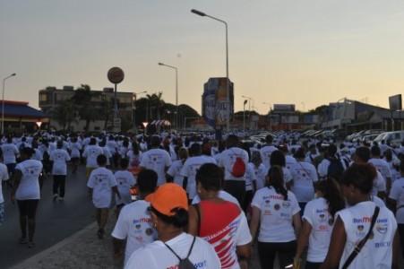 opbrengsten van de wandelmars voor de Curaçaose Hartstichting