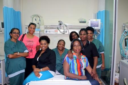 Het verplegend personeel van de Taams Kliniek is bezorgd over de toekomst van het ziekenhuis - Foto |  Anneke Polak