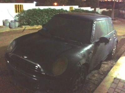Journalist Richeron Balentien woke up one night to find his car had been torched (Photo: Richeron Balentien)