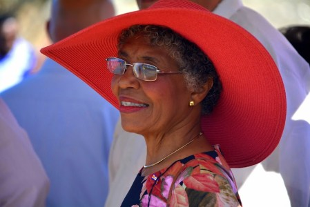Gouverneur Lucille George Wout | Foto Dick Drayer