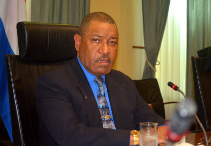 Minister van Justitie, mr. Nelson Navarro   Foto Dick Drayer