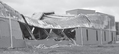 Het in november 2013 afgebrande gebouw van Japan nv. FOTO JEU OLIMPIO
