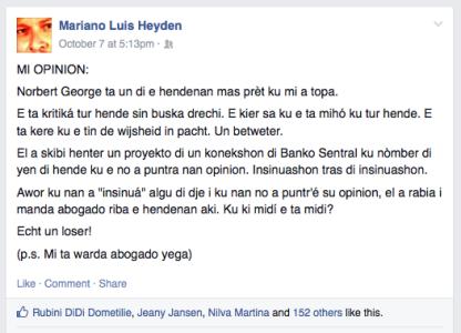 2014 10 07 - Mariano Luis Heyden - rectificatie Norbert George