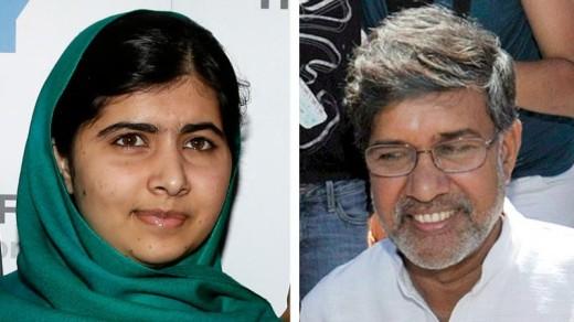 Malala Yousafzai en Kailash Satyarthi hebben de prestigieuze Nobelprijs gewonnen   EPA .