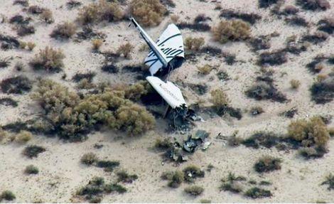 Ruimtevliegtuig SpaceShipTwo neergestort |Foto AP