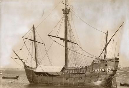 Reconstructie van de Santa Maria, het schip van Columbus