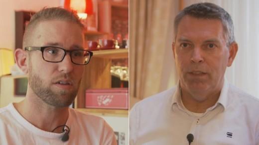 Don Vleesenbeek (L) en Hans de Borst (R)    NOS .