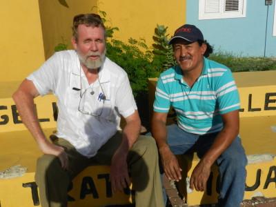 Michiel Bijkerk en Luis Rodriguez Gamarro foto: Belkis Osepa