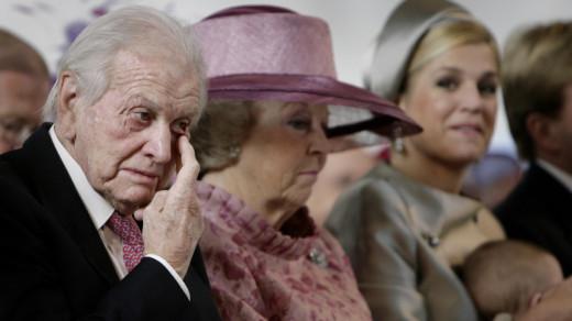 Jorge Zorreguieta, koningin Beatrix en prinses Maxima | ANP PHOTO ROYAL IMAGES WFA RONALD FLEURBAAIJ (POOL)