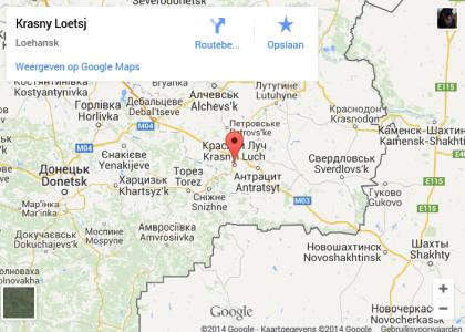 Krasny Luch ligt in het zuidoosten van Oekraïne: