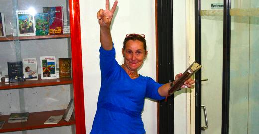 Maria is clean en op weg naar Nederland   Foto    Dick Drayer