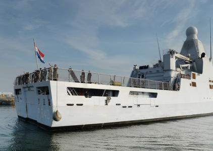 De bemanning van patrouilleschip Zr. Ms. Holland werkt al samen met de Amerikaanse zeemacht. | Foto : Martin Mooij