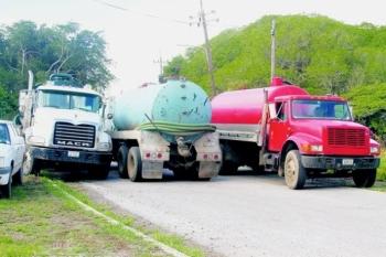 Er waren vanochtend een stuk of tien trucks aanwezig.