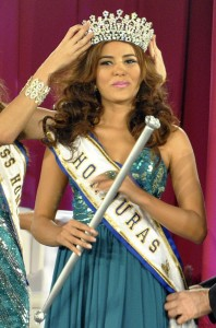 In this April 26 photo, Maria Jose Alvarado is crowned the new Miss Honduras in San Pedro, Sula, Honduras. (Associated Press file)