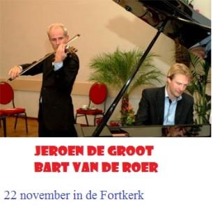 violist Jeroen de Groot en pianist Bart van de Roer