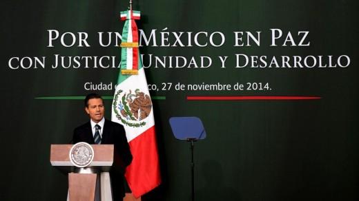 Peña Nieto ontvouwde zijn plannen vanavond in Mexico-Stad AFP