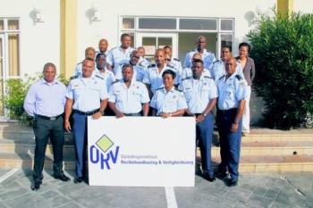 De groep agenten die met de BPO is gestart.