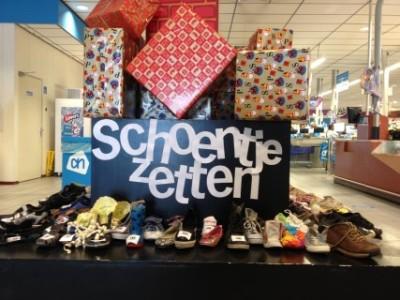 Bij supermarkt Albert Heijn te Zeelandia kunnen kinderen al hun schoentje zetten. FOTO ANTILLIAANS DAGBLAD