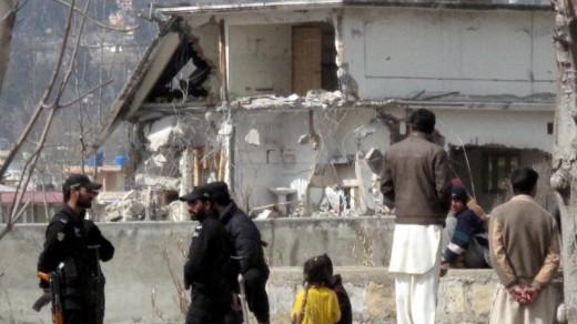 Sloop van de verblijfplaats waar Bin Laden werd gedood | EPA .