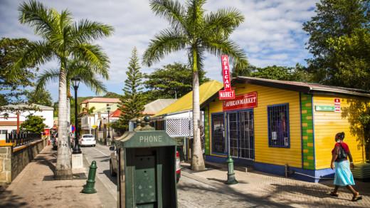 Philipsburg, de hoofdstad van Sint-Maarten | Foto ANP