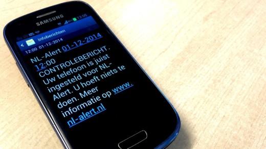 NL-alert niet op alle mobiels te ontvangen