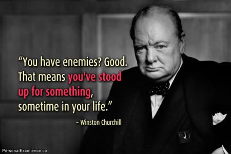 Om het maar een's met Winston Churchill's woorden te zeggen