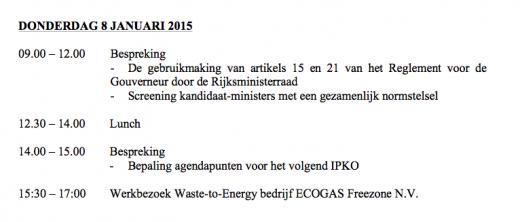 Agendapunten donderdag 8 januari IPKO 2015