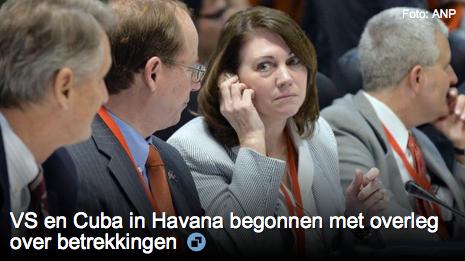 VS en Cuba in Havana begonnen met overleg over betrekkingen   Foto APN