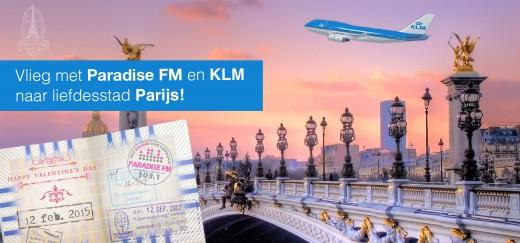 Met Paradise FM en KLM naar liefdesstad Parijs!