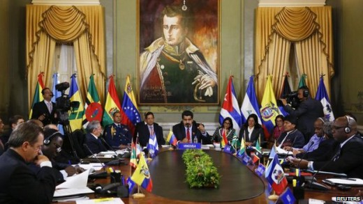 Members of the Alba regional bloc gathered for an emergency summit in Caracas