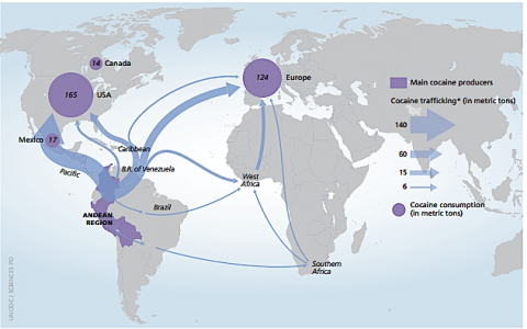 The ABC-islands function as the Caribbean hub for global Cocaine Empire Enterprises