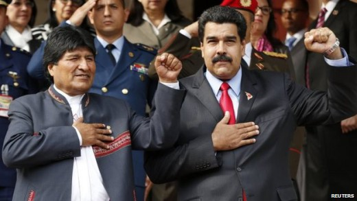 "Evo Morales said Latin American nations stood united against ""US imperialism"" 
