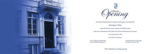 Gevolmachtigde minister Marvelyne Wiels stuurde afgelopen weekend de uitnodiging uit voor de opening van het nieuwe pand van het Curaçaohuis in Den Haag op 7 juli   FOTO CURAÇAOHUIS