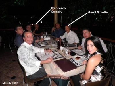 Francesco Corallo having diner with Gerrit Schotte