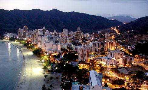 Santa Marta  (Colombia) aan de Caribische kust