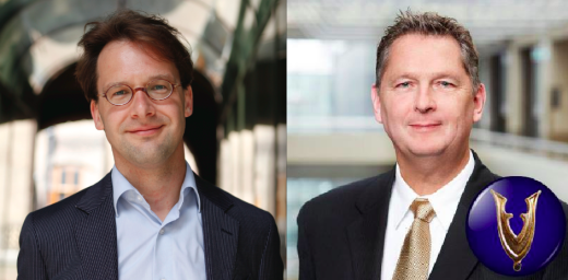 Tweede Kamerleden Ronald van Raak (SP) en Andre Bosman (VVD)
