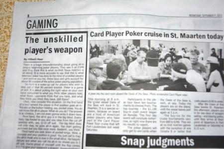 Today Hilbert Haar - example gambling advertorials in Today SXM