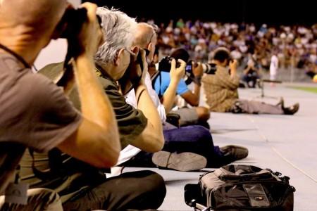 De pers tijdens Curacao - El Salvador | Foto Henk Looman