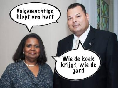 Marvelyne Wiels en Ivar Asjes   Cartoon Pa Stechi