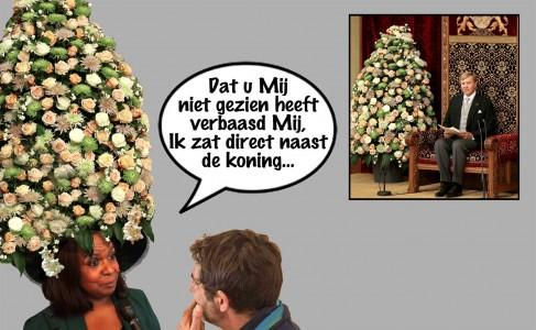 Marvelyne Wiels - Troonrede Prinsjesdag 2015   Cartoon Pa Stechi